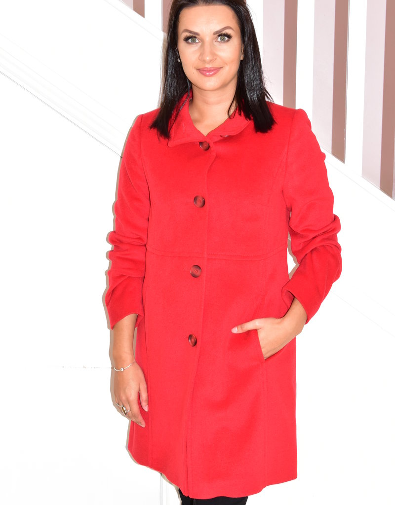 BETTY BARCLAY Red Coat With Buttons