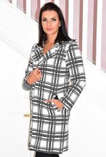 PERUZZI Checkered Coatigan