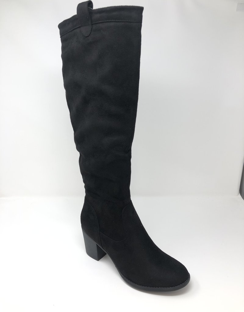 Shoes by Emma 'Tamari' Knee High Suede Boots With Block Heel