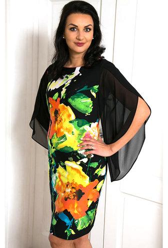 FRANK LYMAN Floral Knit Dress