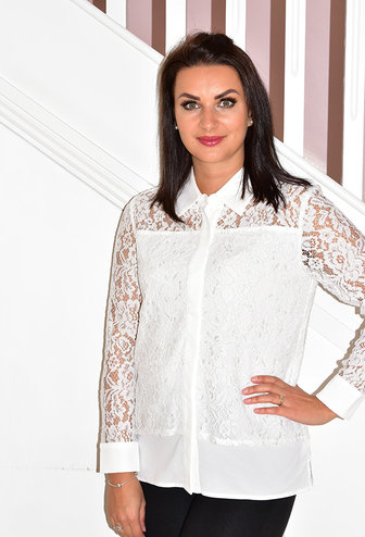 LIBRA White Lace Blouse