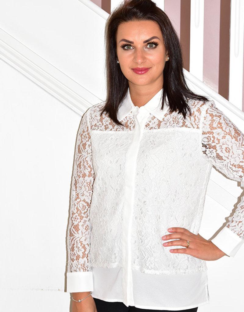 LIBRA White Lace Blouse