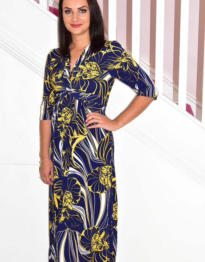 Jolie Moi Faux Wrap Maxi Dress