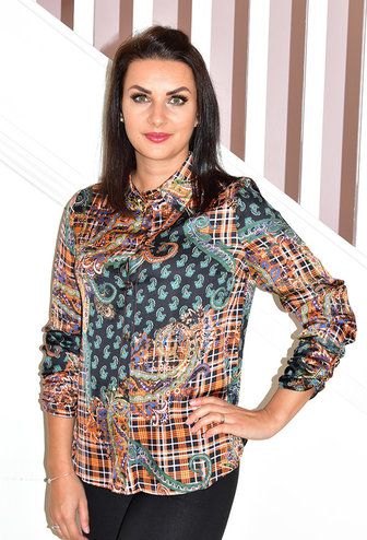 PERUZZI Multi-Patterned Print Blouse