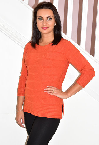 PERUZZI Pumpkin Cable Knit Jumper