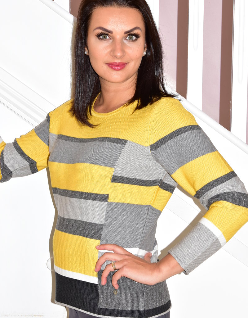 RABE Striped Jumper With Glitter Detail