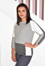 RABE Blocked Pattern Jumper With Buttons