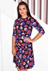 Jolie Moi Roll Collar Ruched Shift Dress