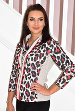 JUST WHITE 2 Piece Leopard Print Jacket and Top