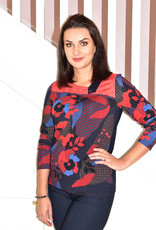 Kalisson Floral Print Top With Button on Cuff