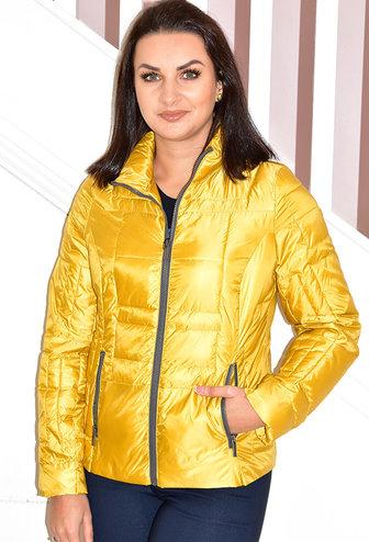 ETAGE Mustard Short Puff Jacket With Zips