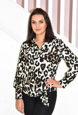 FRANK LYMAN Cararmel/ Black Leopard Print Top
