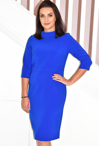 KATE COOPER Dress With High Collar