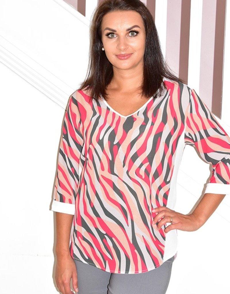DECOLLAGE Multicolour Striped Print Blouse
