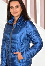 ETAGE Navy Short Puff Jacket With Zips