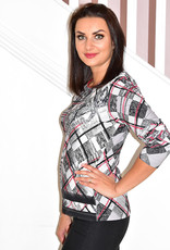 RABE Rabe Checkered Pattern Top With Studs