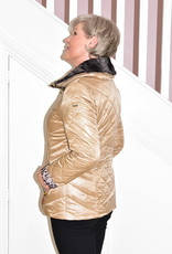 Diane Laury Puff Jacket With Faux Fur On Collar