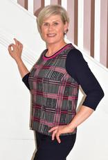 HABELLA Long Sleeve Multi Pattern Top