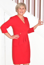 OLIMARA Dress With Button Effect & Pockets