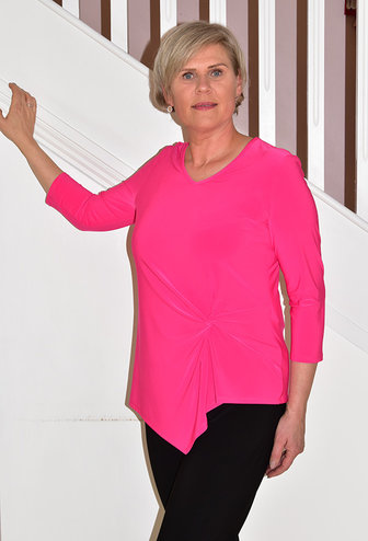JOSEPH RIBKOFF long sleeve top with knot detail