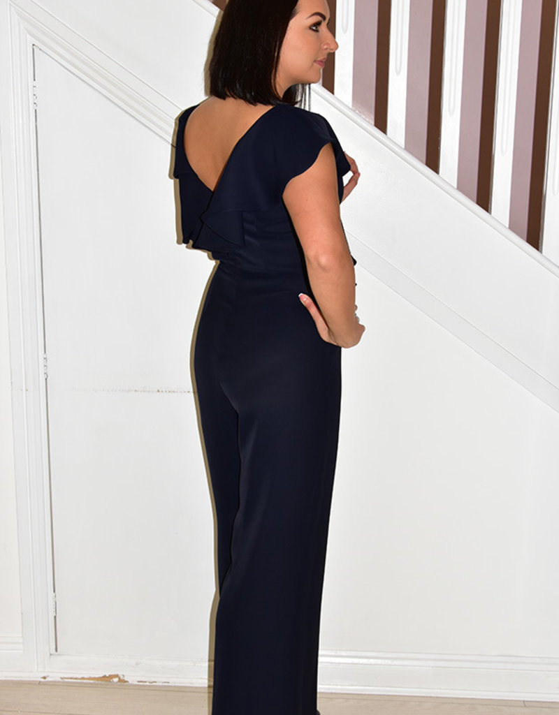 JOSEPH RIBKOFF Jumpsuit With Frill Detail On Front