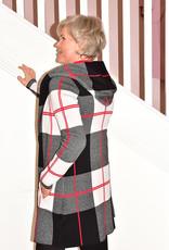 FRANK LYMAN Checked Print Cardigan With Hood