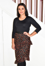 dranella Patterned Tiered Skirt