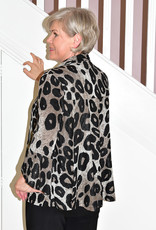 FRANK LYMAN ANIMAL PRINT JACKET WITH BELL SLEEVE