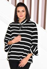 FRANK LYMAN Stripe Print Swing Jacket