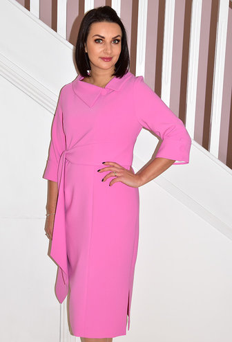 HEIDI HIGGINS RENA SUGAR PINK DRESS WITH  BELT DETAIL