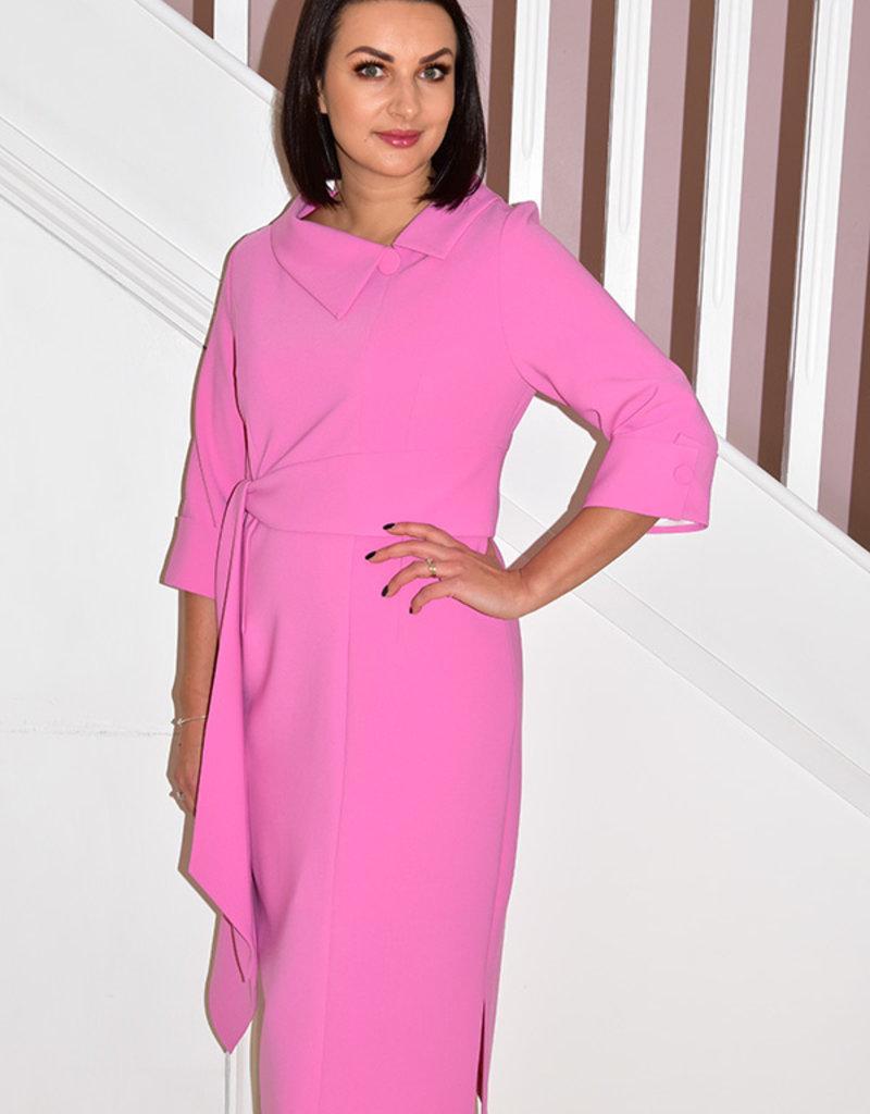 HEIDI HIGGINS RENA SUGAR PINK DRESS WITH  BELT DETAIL