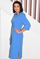 HEIDI HIGGINS RENA BLUESTONE BELT DRESS
