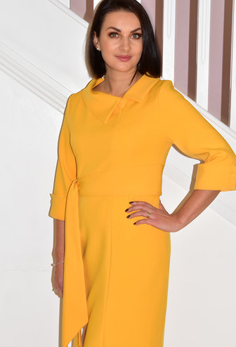 HEIDI HIGGINS RENA SIDE BELT TUMERIC DRESS