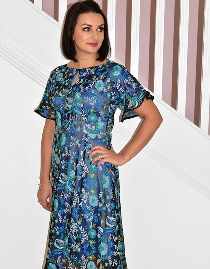 HEIDI HIGGINS AMAR FLOWER TAIL DRESS