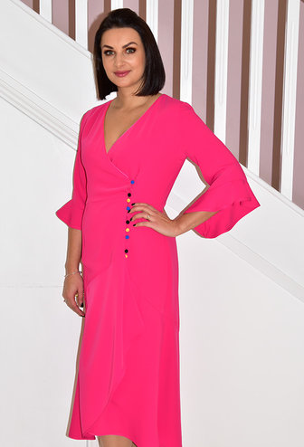 HEIDI HIGGINS Tina Pink Dress With