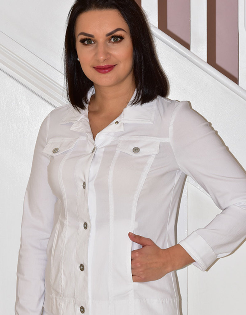 ROBELL White 'Happy' Jacket With Collar