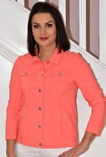 ROBELL Orange 'Happy' Jacket With Collar