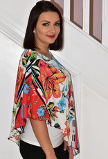 Michael Tyler Top With Floral Pattern Cape Style