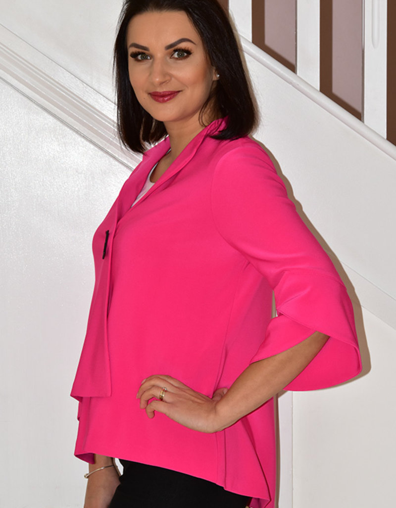 JOSEPH RIBKOFF Hot Pink Jacket With Square Button
