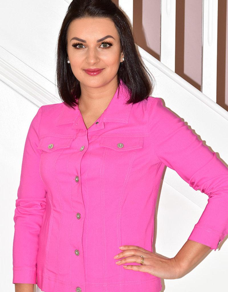 ROBELL Fuchsia 'Happy' Jacket With Collar