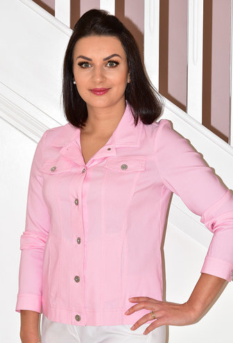 ROBELL Baby Pink 'Happy' Jacket With Collar