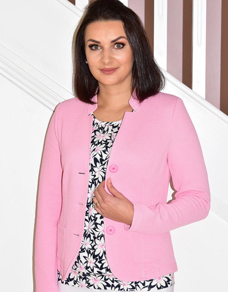 Frank Walder Pink Jacket With Buttons & Pockets