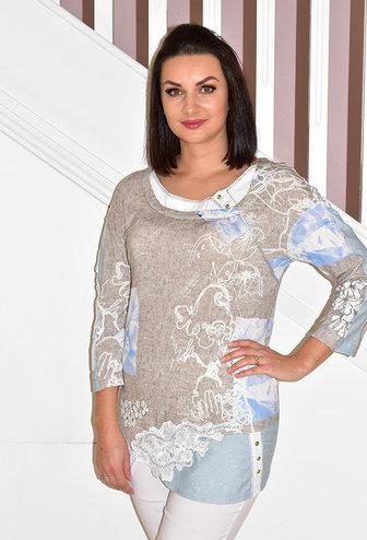 Elisa Cavaletti Tunic With Rose Print