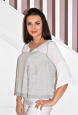 Elisa Cavaletti Top With Silver Detail On Side