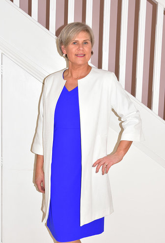 LIBRA White Long Jacket With Pockets