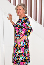 LIBRA Abstract Print Dress With Long Sleeves