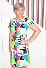 LIBRA Painterly Print Multi Colour Dress