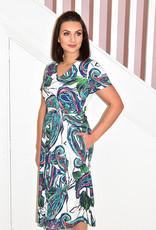 LIBRA Fit & Flare Botanical Print Dress