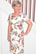 LIBRA Graphic Floral Print Short Sleeve Dress