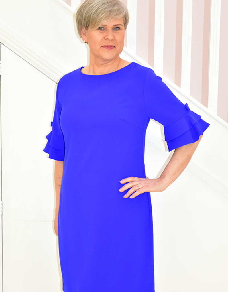 LIBRA Blue Dress With Bow On Sleeve